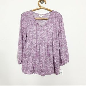 NWT Style & Co Femme Fusion Blouse